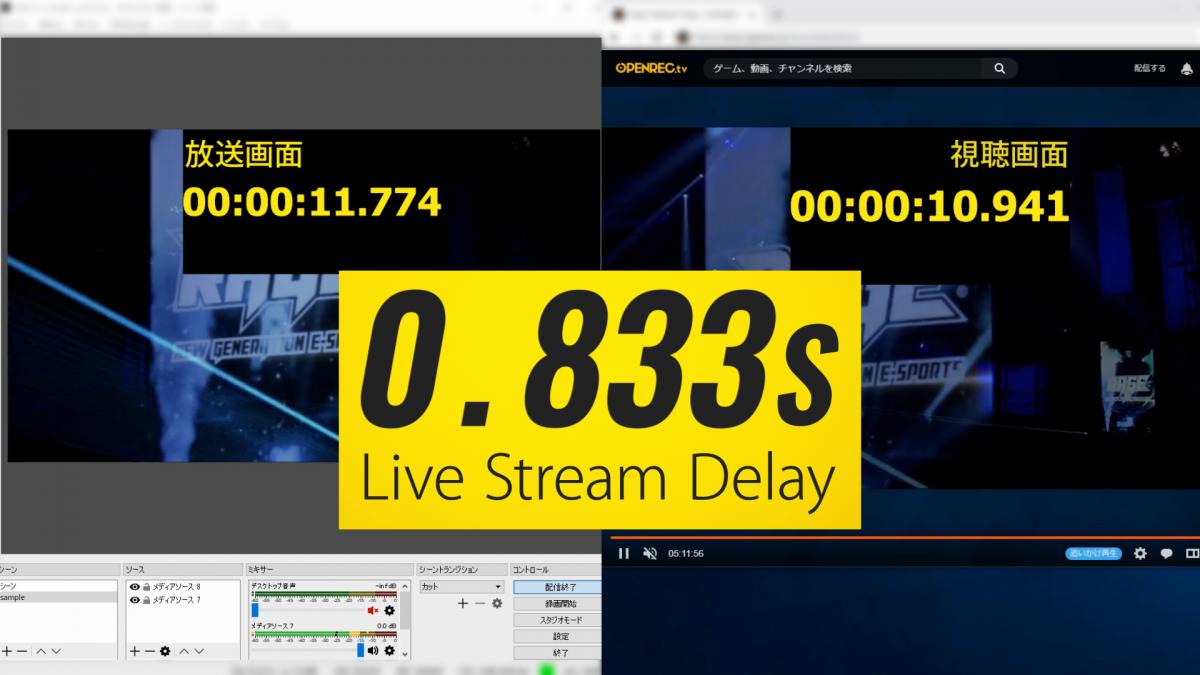 「超低遅延モード」正式版リリース!最小で 0 コンマ秒台の低遅延を実現